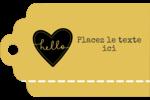 Cœur brodé hello Étiquettes imprimables - gabarit prédéfini. <br/>Utilisez notre logiciel Avery Design & Print Online pour personnaliser facilement la conception.
