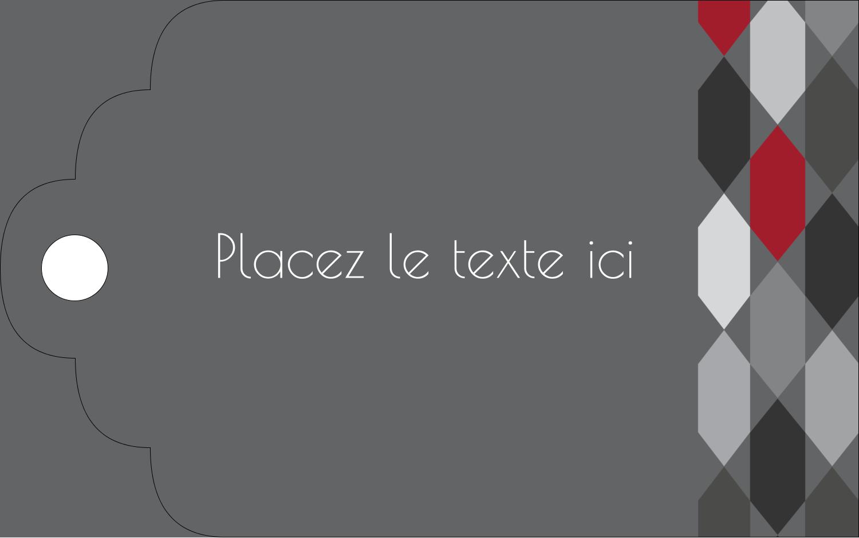 """2"""" x 1⅛"""" Étiquettes imprimables - Hexagone rouge"""