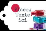 Flacons de vernis Étiquettes imprimables - gabarit prédéfini. <br/>Utilisez notre logiciel Avery Design & Print Online pour personnaliser facilement la conception.