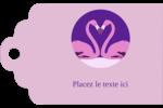 Flamant en forme de cœur Étiquettes imprimables - gabarit prédéfini. <br/>Utilisez notre logiciel Avery Design & Print Online pour personnaliser facilement la conception.