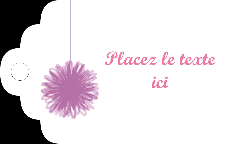 """2"""" x 1⅛"""" Étiquettes imprimables - Pompons de fête"""