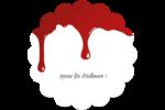 Halloween sanglante Étiquettes rondes - gabarit prédéfini. <br/>Utilisez notre logiciel Avery Design & Print Online pour personnaliser facilement la conception.