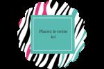 Empreintes d'animaux Étiquettes rondes - gabarit prédéfini. <br/>Utilisez notre logiciel Avery Design & Print Online pour personnaliser facilement la conception.