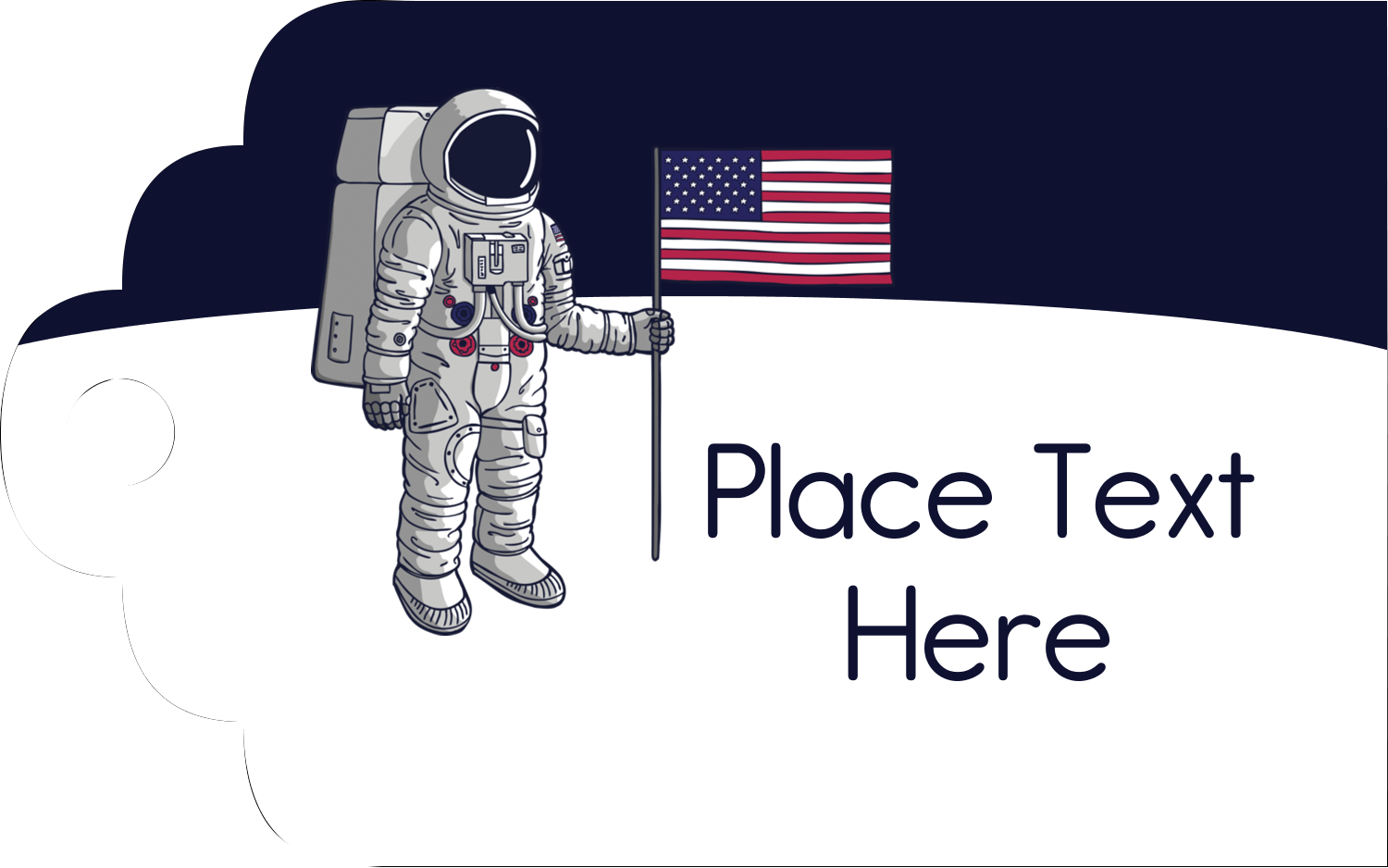 "2"" x 1⅛"" Printable Tags - Astronaut"