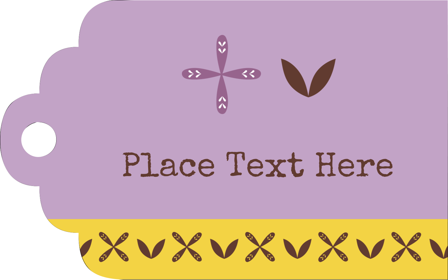"2"" x 1⅛"" Printable Tags - Geometric Lavender Blossoms"