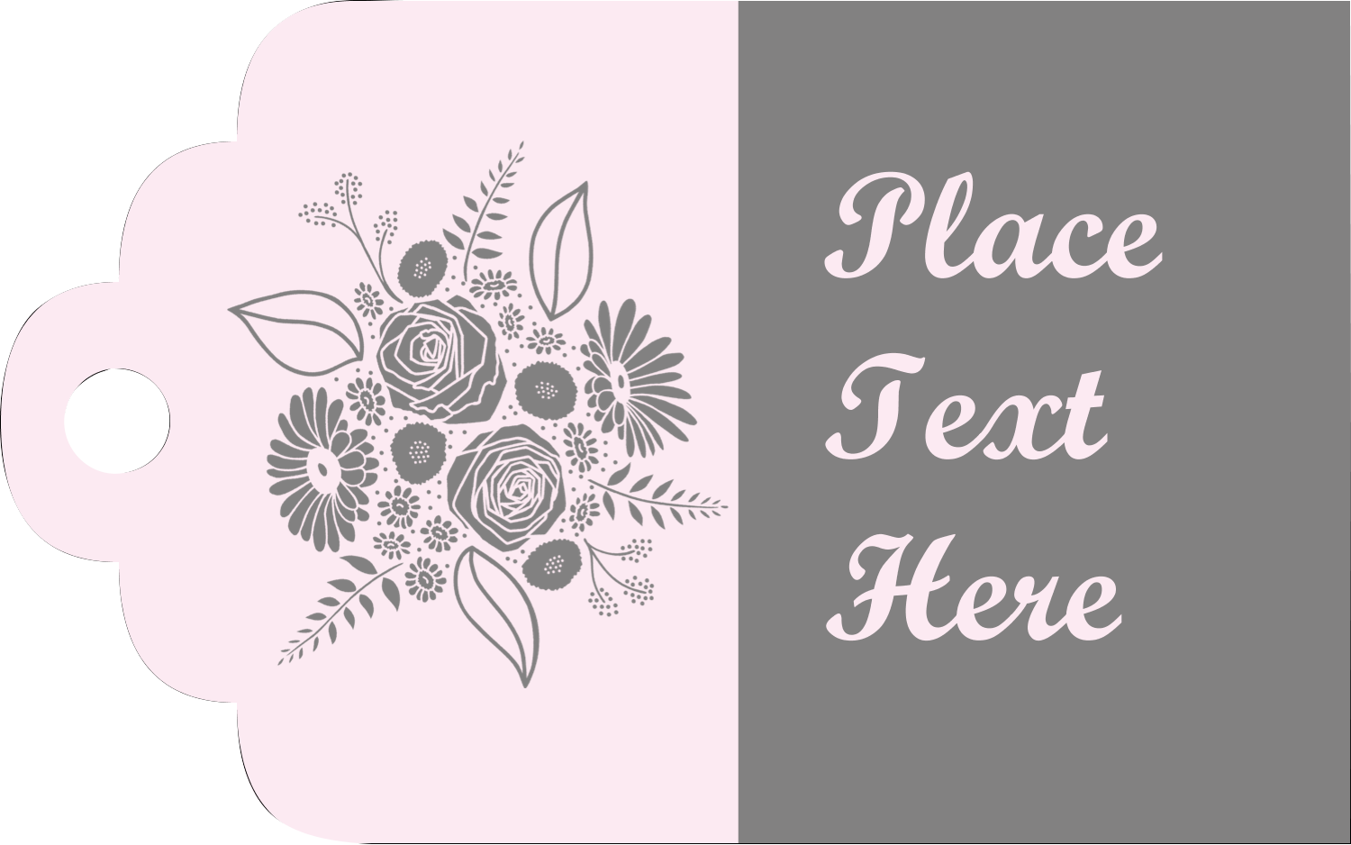 "2"" x 1⅛"" Printable Tags - Floral Bouquet"