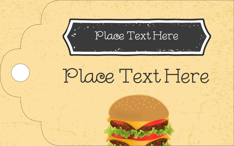 """2"""" x 1⅛"""" Printable Tags - Burger"""