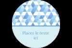 Hanoukka géométrique Étiquettes Voyantes - gabarit prédéfini. <br/>Utilisez notre logiciel Avery Design & Print Online pour personnaliser facilement la conception.