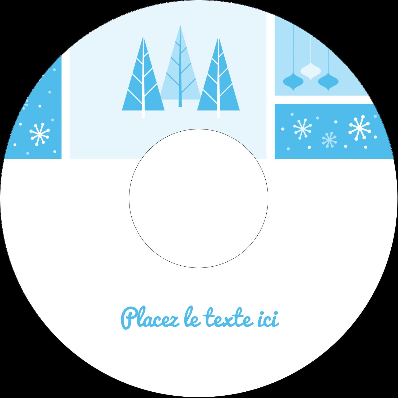CD/DVD Étiquettes Pour Médias - Les gabarits Pays des merveilles hivernales rétro pour votre prochain projet créatif