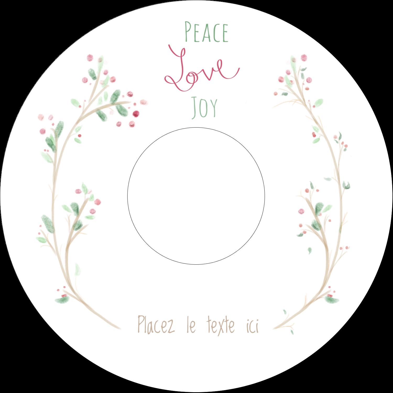 """⅔"""" x 3-7/16"""" Étiquettes de classement - Les gabarits Paix, amour et joie pour votre prochain projet créatif des Fêtes"""