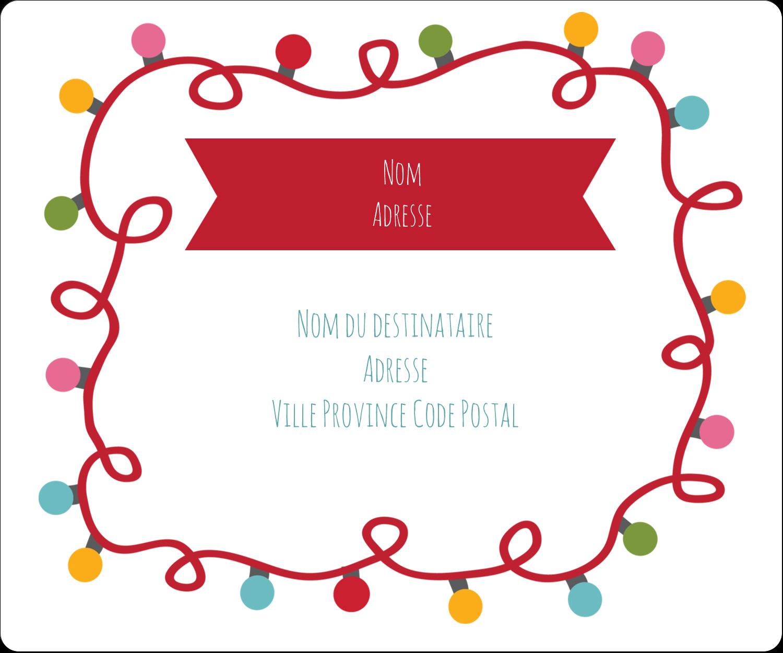 """½"""" x 1¾"""" Étiquettes D'Adresse - Les gabarits Lumières de Noël pour votre prochain projet des Fêtes"""