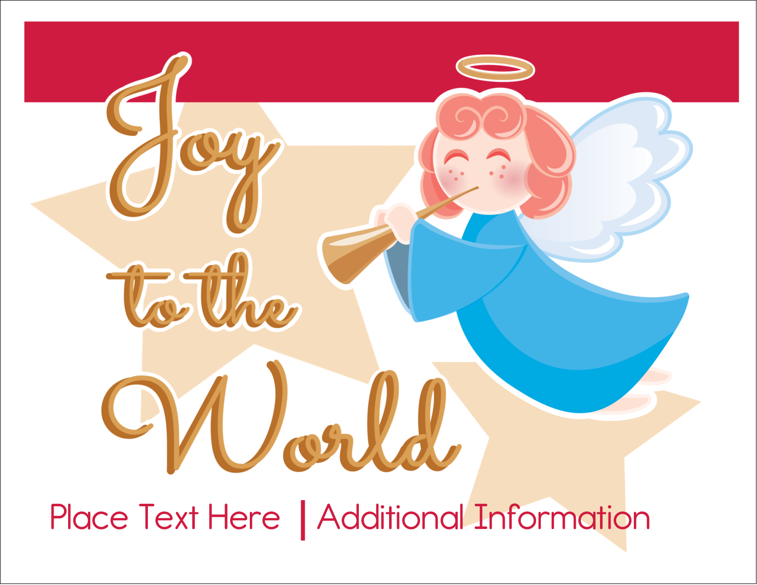 "5½"" x 4¼"" Note Card - Religious Angel"