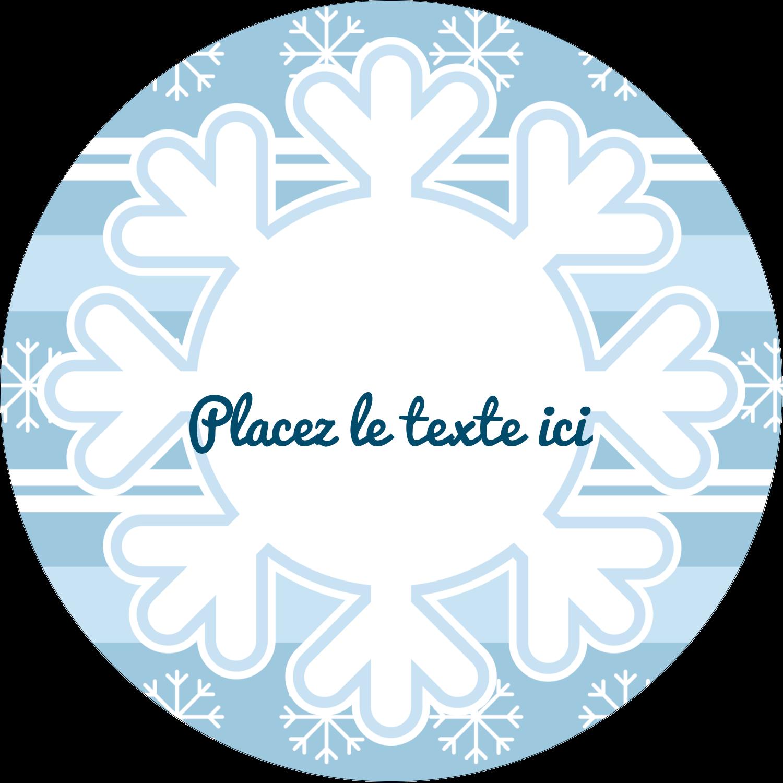 """2¼"""" x ¾"""" Étiquettes Voyantes - Les gabarits Flocon de neige bleu pour votre prochain projet des Fêtes"""