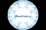 Les gabarits Flocon de neige bleu pour votre prochain projet des Fêtes Étiquettes Voyantes - gabarit prédéfini. <br/>Utilisez notre logiciel Avery Design & Print Online pour personnaliser facilement la conception.