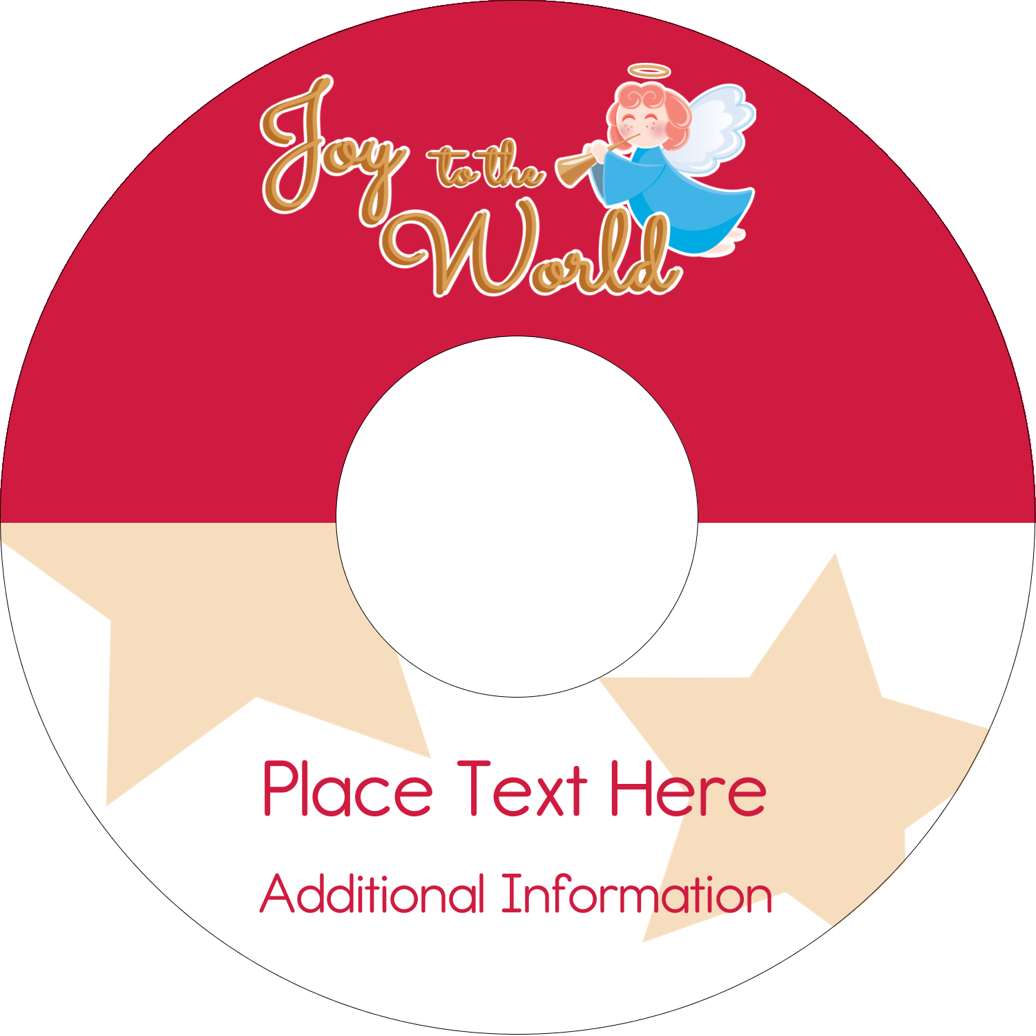 "4.65"" CD-DVD Label - Religious Angel"