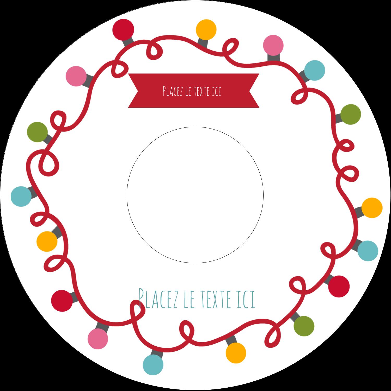 CD/DVD Étiquettes Pour Médias - Les gabarits Lumières de Noël pour votre prochain projet des Fêtes