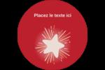 Grande étoile Étiquettes Voyantes - gabarit prédéfini. <br/>Utilisez notre logiciel Avery Design & Print Online pour personnaliser facilement la conception.