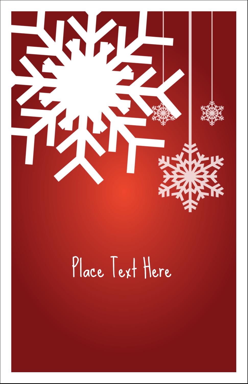 "5"" x 8½"" Half Fold Card - Felt Snowflakes"