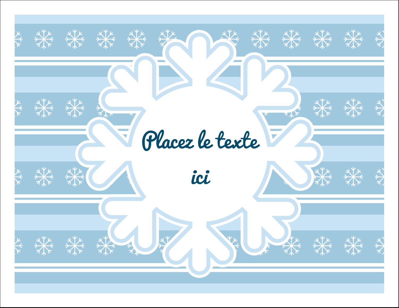 """8½"""" x 11"""" Cartes Et Articles D'Artisanat Imprimables - Les gabarits Flocon de neige bleu pour votre prochain projet des Fêtes"""