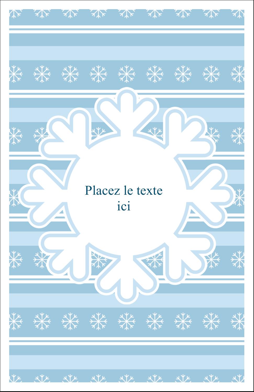 """8½"""" x 11"""" Binder Insert Reliures - Les gabarits Flocon de neige bleu pour votre prochain projet des Fêtes"""