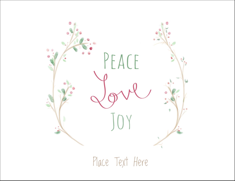 "5½"" x 4¼"" Note Card - Peace Love Joy"