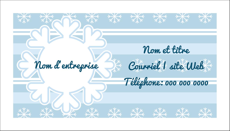 """2"""" x 3½"""" Carte d'affaire - Les gabarits Flocon de neige bleu pour votre prochain projet des Fêtes"""