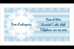 Les gabarits Flocon de neige bleu pour votre prochain projet des Fêtes Carte d'affaire - gabarit prédéfini. <br/>Utilisez notre logiciel Avery Design & Print Online pour personnaliser facilement la conception.