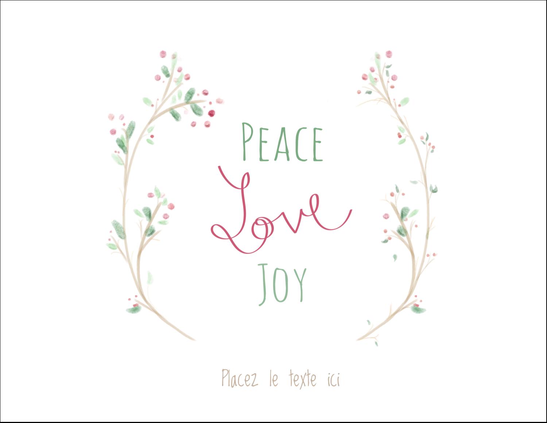"""8½"""" x 11"""" Cartes Et Articles D'Artisanat Imprimables - Les gabarits Paix, amour et joie pour votre prochain projet créatif des Fêtes"""