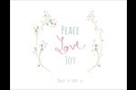Les gabarits Paix, amour et joie pour votre prochain projet créatif des Fêtes Cartes Et Articles D'Artisanat Imprimables - gabarit prédéfini. <br/>Utilisez notre logiciel Avery Design & Print Online pour personnaliser facilement la conception.