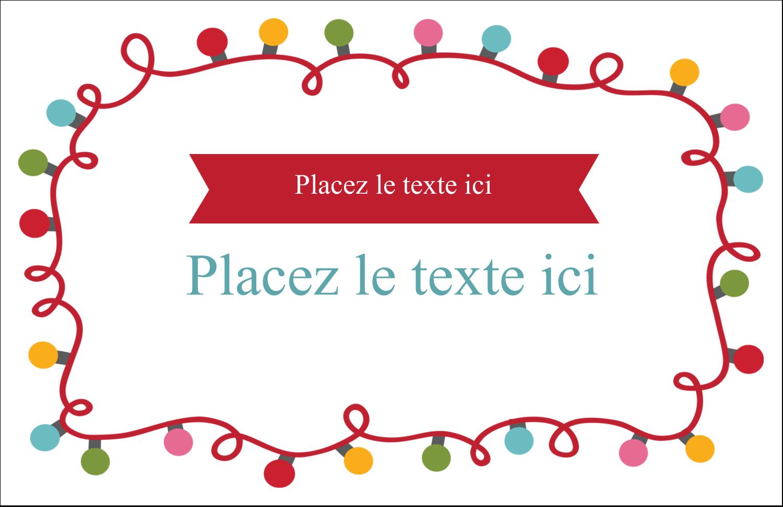"""5½"""" x 8½"""" Cartes de souhaits pliées en deux - Les gabarits Lumières de Noël pour votre prochain projet des Fêtes"""
