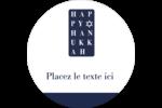 Mots de Hanoukka Étiquettes Voyantes - gabarit prédéfini. <br/>Utilisez notre logiciel Avery Design & Print Online pour personnaliser facilement la conception.
