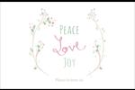 Les gabarits Paix, amour et joie pour votre prochain projet créatif des Fêtes Cartes de souhaits pliées en deux - gabarit prédéfini. <br/>Utilisez notre logiciel Avery Design & Print Online pour personnaliser facilement la conception.