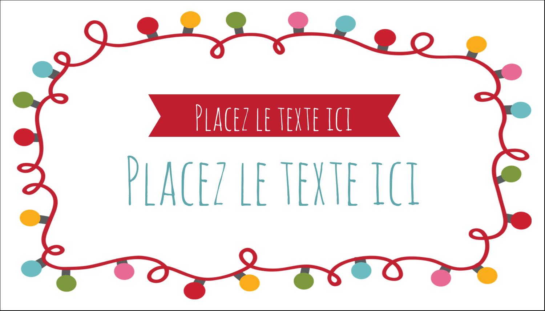 """2"""" x 3½"""" Carte d'affaire - Les gabarits Lumières de Noël pour votre prochain projet des Fêtes"""