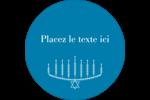 Menora et feuilles Étiquettes Voyantes - gabarit prédéfini. <br/>Utilisez notre logiciel Avery Design & Print Online pour personnaliser facilement la conception.