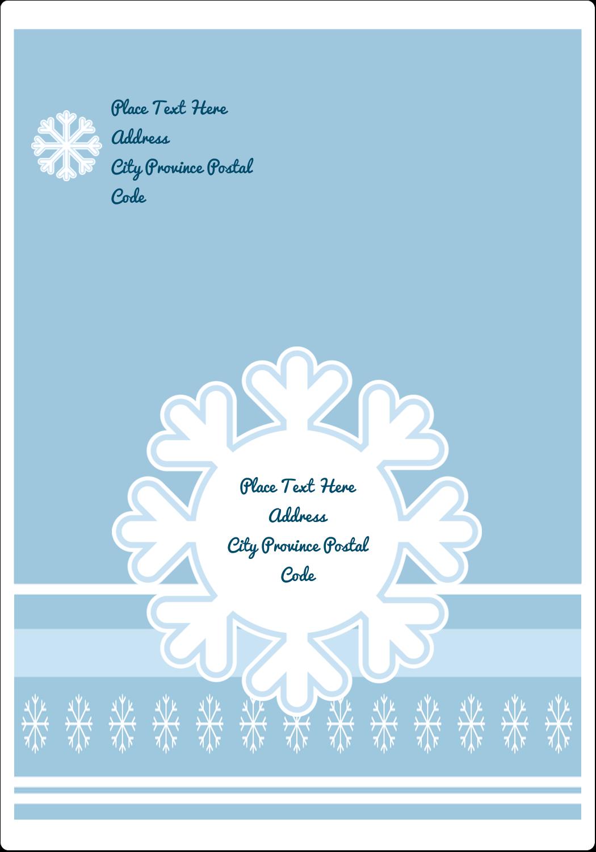 "5"" x 3½"" Shipping Label - Blue Snowflake"