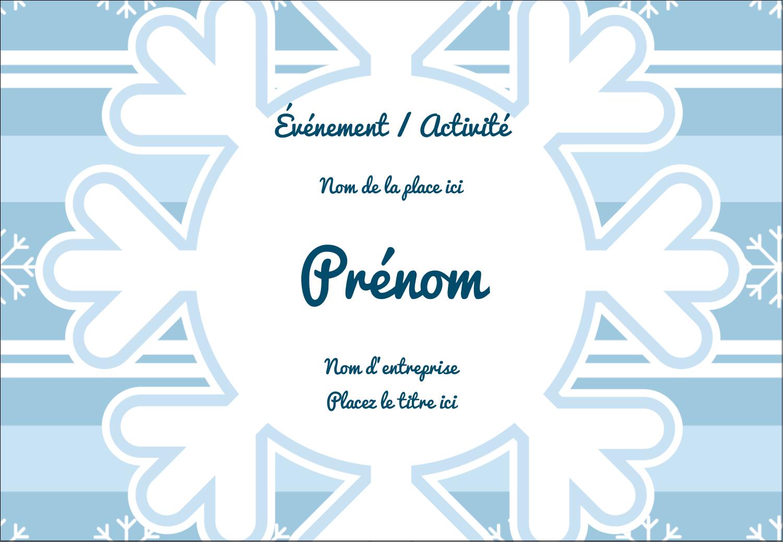 """1¼"""" Étiquettes à codage couleur - Les gabarits Flocon de neige bleu pour votre prochain projet des Fêtes"""