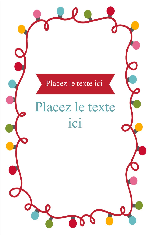"""8½"""" x 11"""" Binder Insert Reliures - Les gabarits Lumières de Noël pour votre prochain projet des Fêtes"""