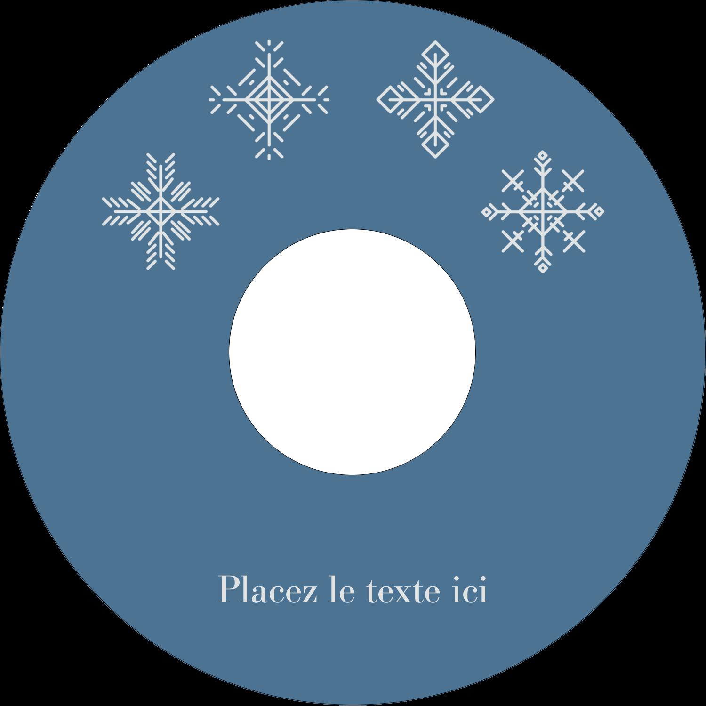 """⅔"""" x 3-7/16"""" Étiquettes de classement - Les gabarits Flocons de neige pour votre prochain projet des Fêtes"""