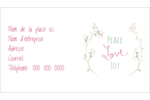 Les gabarits Paix, amour et joie pour votre prochain projet créatif des Fêtes Carte d'affaire - gabarit prédéfini. <br/>Utilisez notre logiciel Avery Design & Print Online pour personnaliser facilement la conception.