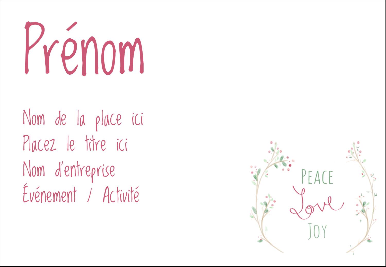 """1¼"""" Étiquettes à codage couleur - Les gabarits Paix, amour et joie pour votre prochain projet créatif des Fêtes"""