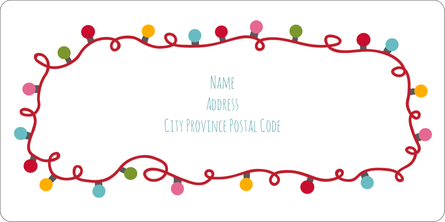"""2"""" x 4"""" Shipping Label - Holiday Lights"""