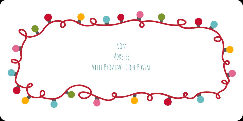 """3-7/16"""" x ⅔"""" Étiquettes de classement écologiques - Les gabarits Lumières de Noël pour votre prochain projet des Fêtes"""