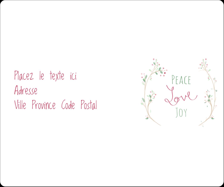 """½"""" x 1¾"""" Étiquettes D'Adresse - Les gabarits Paix, amour et joie pour votre prochain projet créatif des Fêtes"""