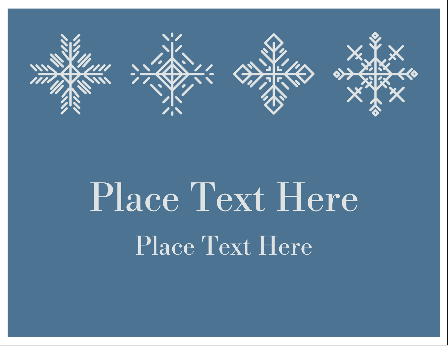"5½"" x 4¼"" Note Card - Snowflakes"