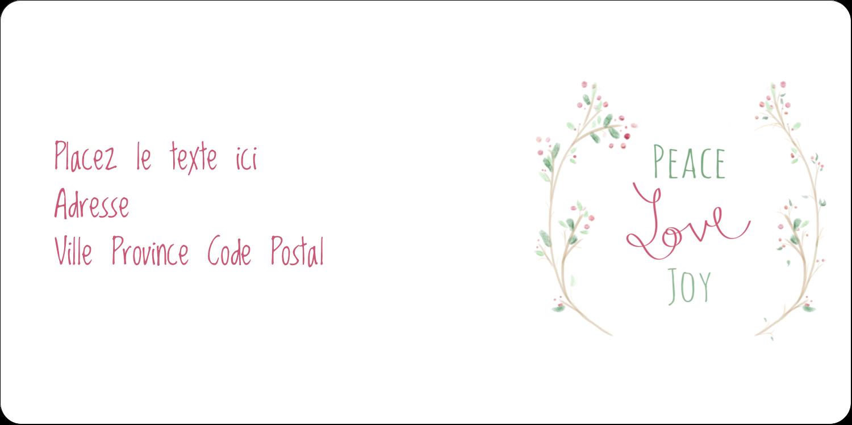 """3-7/16"""" x ⅔"""" Étiquettes de classement écologiques - Les gabarits Paix, amour et joie pour votre prochain projet créatif des Fêtes"""