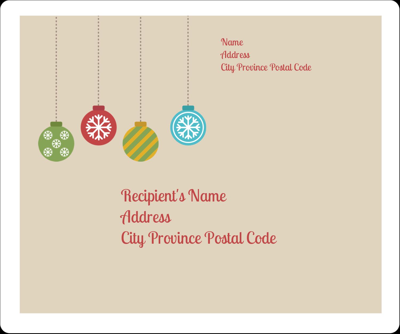 "3⅓"" x 4"" Shipping Label - Crafty Ball Ornaments"