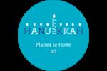 Flammes de Hanoukka Étiquettes Voyantes - gabarit prédéfini. <br/>Utilisez notre logiciel Avery Design & Print Online pour personnaliser facilement la conception.