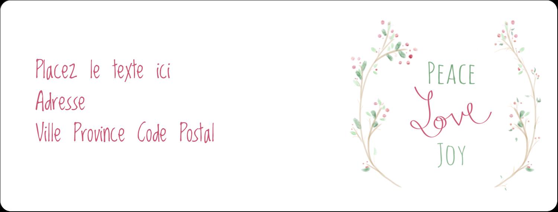 """1"""" x 2⅝"""" Étiquettes d'adresse - Les gabarits Paix, amour et joie pour votre prochain projet créatif des Fêtes"""