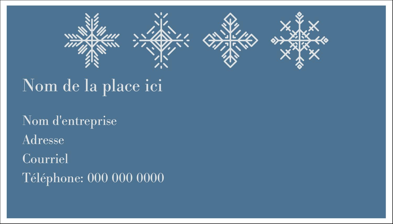 """2"""" x 3½"""" Carte d'affaire - Les gabarits Flocons de neige pour votre prochain projet des Fêtes"""