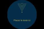 Hanoukka HanouNoël Étiquettes Voyantes - gabarit prédéfini. <br/>Utilisez notre logiciel Avery Design & Print Online pour personnaliser facilement la conception.